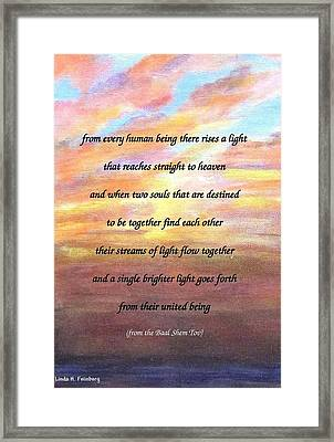 Two Souls Destined To Be Together Framed Print