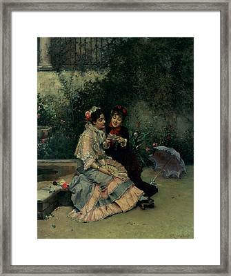 Two Spanish Women Framed Print by Ricardo de Madrazo y Garreta