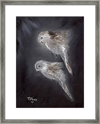 Framed Print featuring the painting Two Spirits In The Night by Barbie Batson