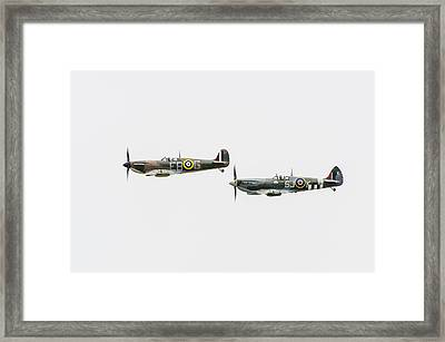 Two Spitfires Framed Print by Gary Eason