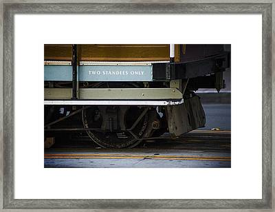 Two Standees Only Framed Print by SFPhotoStore