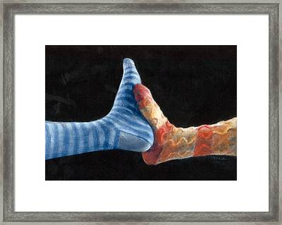 Two Step Framed Print by Diana Moses Botkin