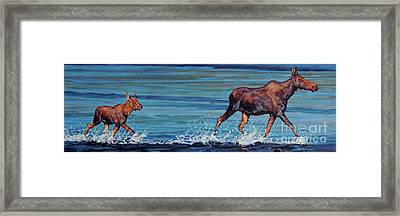 Two Step II Framed Print