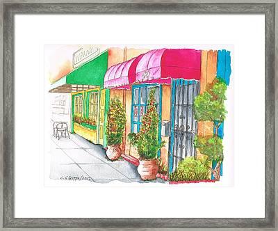 Two Stores In Riverside Ave - Toluca Lake - California Framed Print