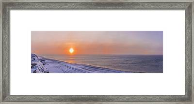 Two Sundogs Hang In The Air Over The Framed Print