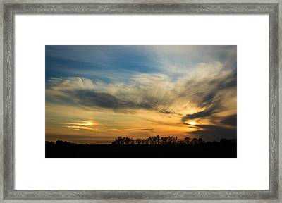 Framed Print featuring the photograph Two Suns Over Kentucky by Peta Thames