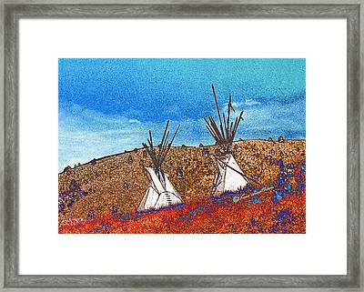 Two Teepees Framed Print