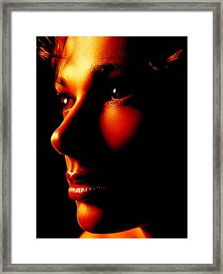 Two Tone Portrait Framed Print