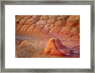 Two Tone Rock Framed Print