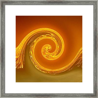 Two-toned Swirl Framed Print by Art Block Collections