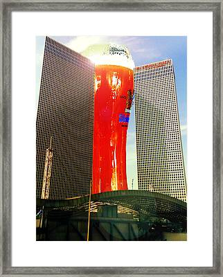 Two Towers And A Pint  Framed Print