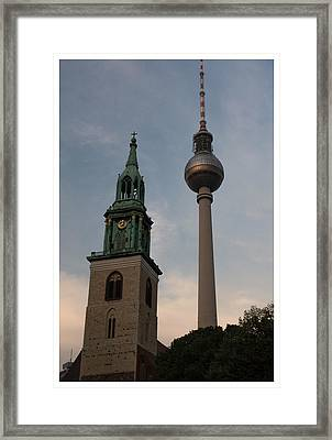 Two Towers In Berlin Framed Print