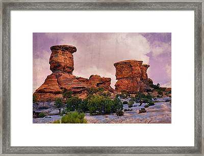 Two Towers Framed Print by Marty Koch