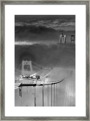 Framed Print featuring the photograph Two Towers by Matthew Ahola
