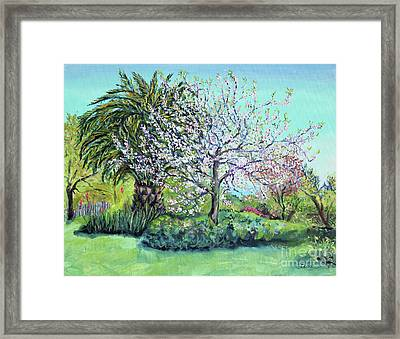 Framed Print featuring the painting Two Trees Like Springtime Lovers by Asha Carolyn Young