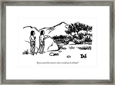 Two Tribal Hunters Survey The Plains Framed Print
