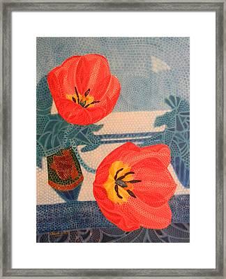Two Tulips Framed Print by Adel Nemeth
