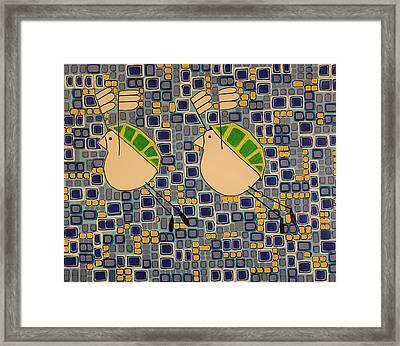 Two Turtledoves Framed Print