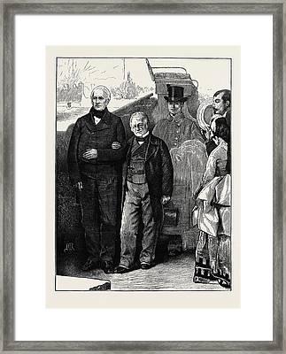 Two Veteran French Statesmen Mm Framed Print by English School
