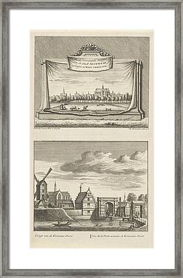 Two Views In Alkmaar With The Great Church Framed Print
