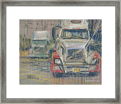 Two Volvos Framed Print by Donald Maier