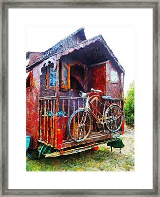 Two Wheels On My Wagon Framed Print by Steve Taylor