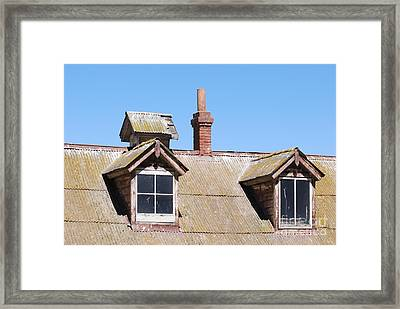Framed Print featuring the photograph Two Window Roof by George Mount