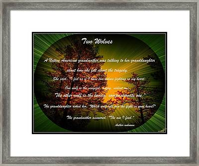 Two Wolves-inspiration Framed Print