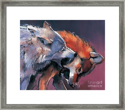 Two Wolves Framed Print