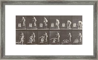 Two Women Bathing Framed Print by Eadweard Muybridge