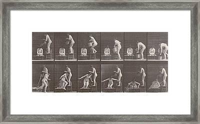 Two Women Bathing Framed Print