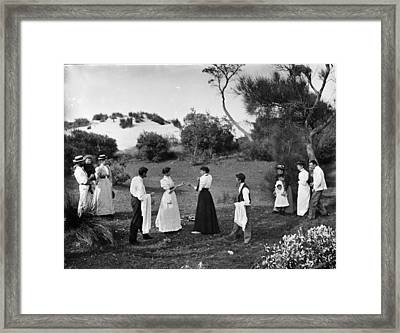 Two Women Boxing Framed Print by Historic Photos