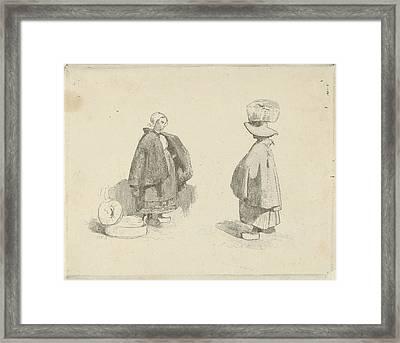 Two Women, Charles Rochussen Framed Print by Charles Rochussen