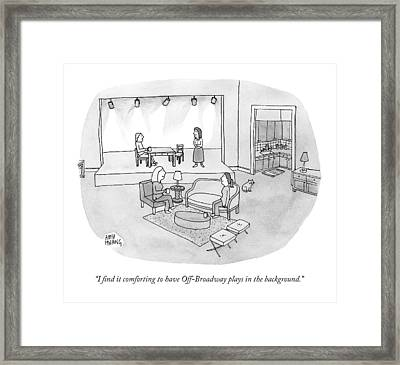 Two Women Chat In A Living Room Framed Print by Amy Hwang