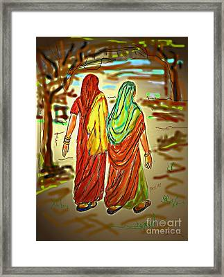 Two Women Framed Print