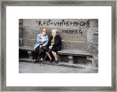 Two Women In Naples Framed Print