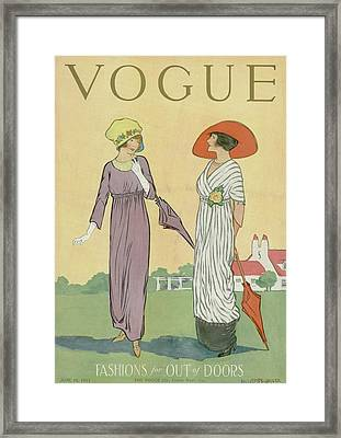 Two Women In Spring Clothing Framed Print by Helen Dryden