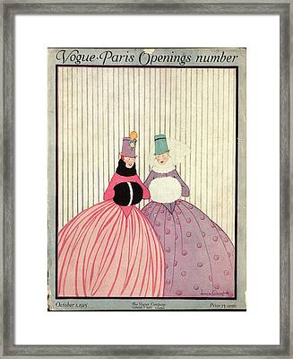 Two Women In Winter Gowns Framed Print