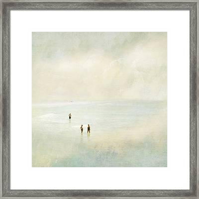 Two Women One Man Framed Print