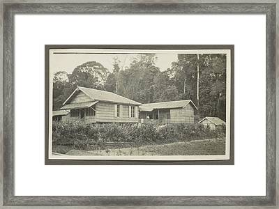Two Wooden Houses With Porches And An Outbuilding Framed Print by Artokoloro