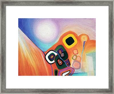 Two Worlds Mandala Framed Print