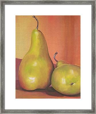 Two Yellow Pears Blenda Studio Framed Print by Blenda Studio