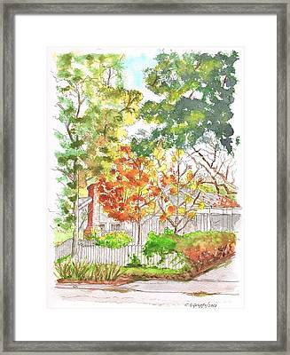 Two Yellow Trees In West Hollywood - California Framed Print