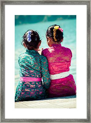 Two Young Girls  Framed Print by Mariusz Prusaczyk