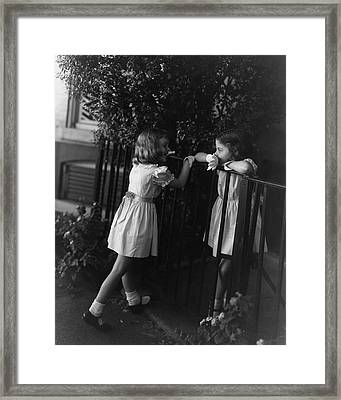 Two Young Girls Framed Print by Horst P. Horst