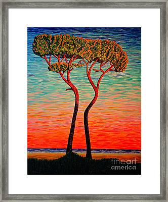 Two.sunrise. Framed Print by Viktor Lazarev