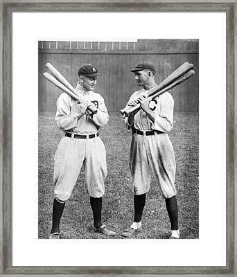 Ty Cobb And Shoeless Joe Jackson Framed Print by Historic Vantage