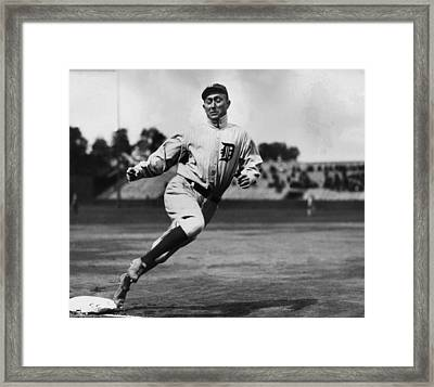 Ty Cobb Framed Print by Gianfranco Weiss