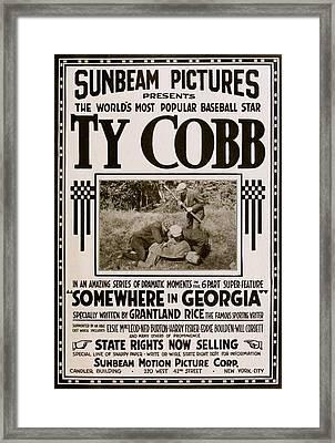 Ty Cobb - Movie Poster Framed Print