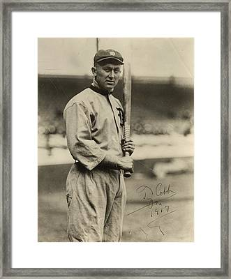 Ty Cobb  Poster Framed Print by Gianfranco Weiss